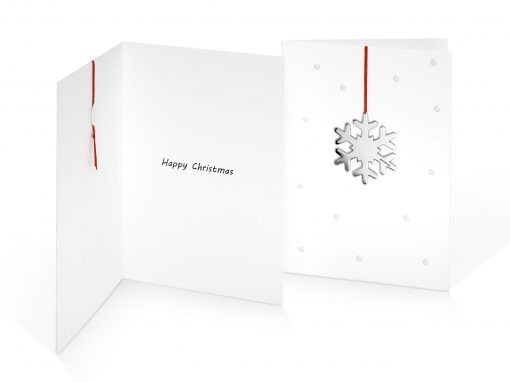 Plain Snowflake Dotty Card and Greeting