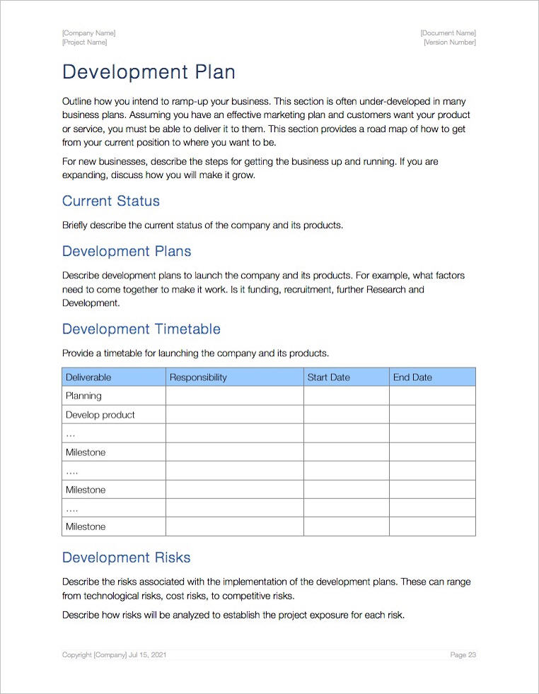 Business_Plan_Apple_iWork_Pages_Development_Plan