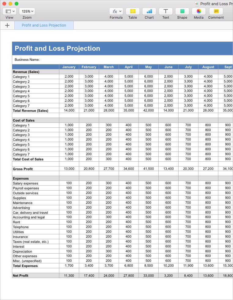 Business_Plan_Profit_and_Loss_Projection_Apple_Numbers_Template