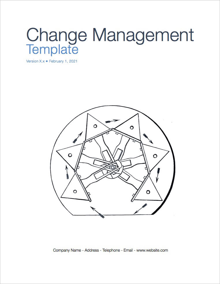 Change Management Plan template - Apple iWork