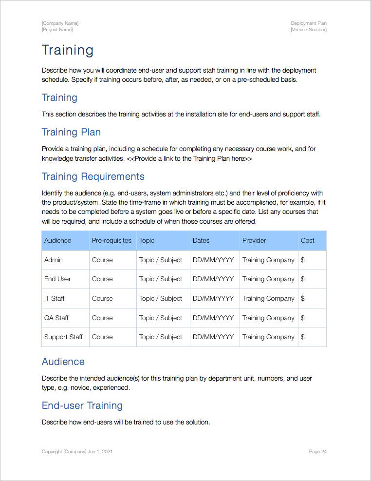 Deployment_Plan_Template_Apple_iWork_Pages_Training