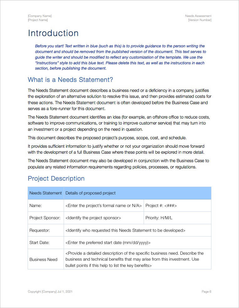 Needs_Assessment_Pages_Template_Apple_iWork_Pages_Numbers_Introduction