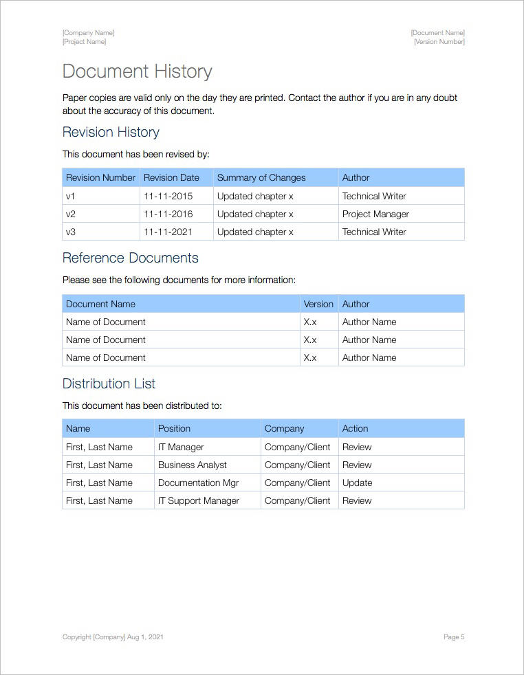 SOP-Template-Apple-iWork-Pages-Document-History