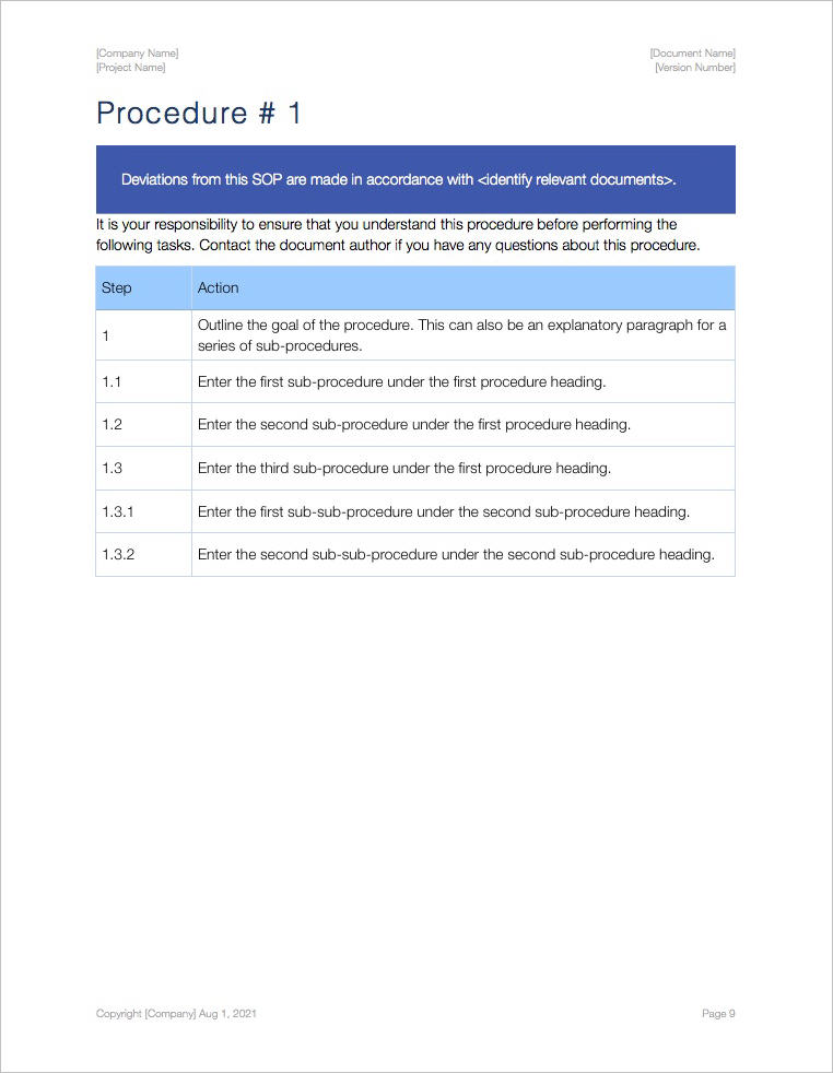 SOP-Template-Apple-iWork-Pages-Procedure