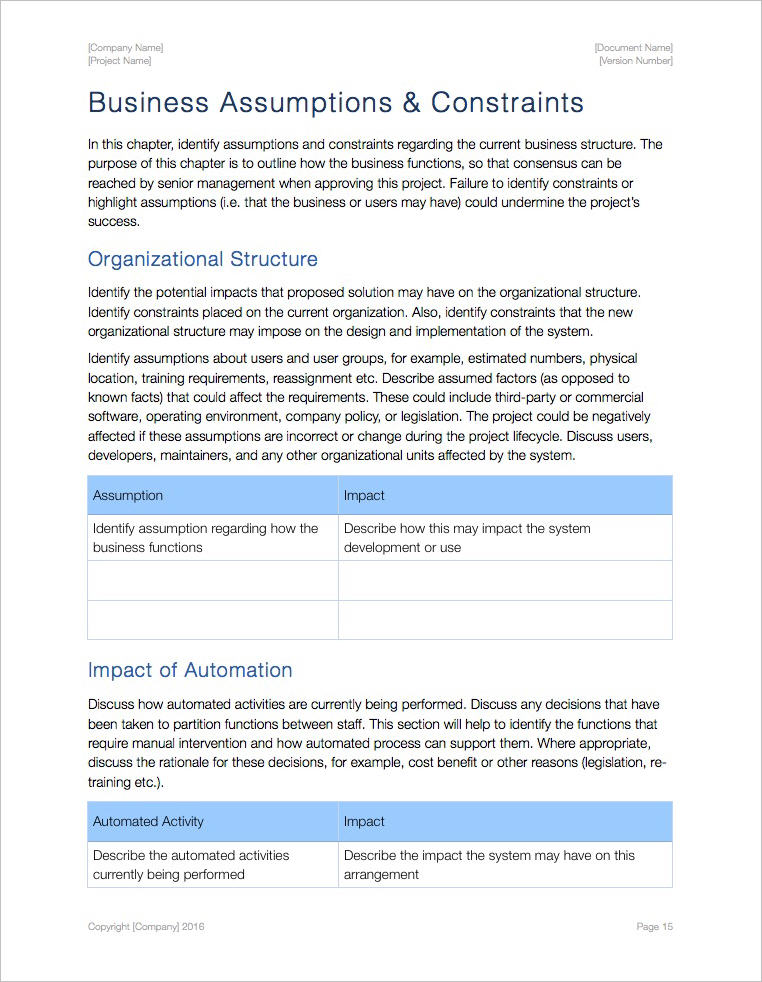 System-Subsystem-Specifications-Template-Apple-iWork-Assumptions