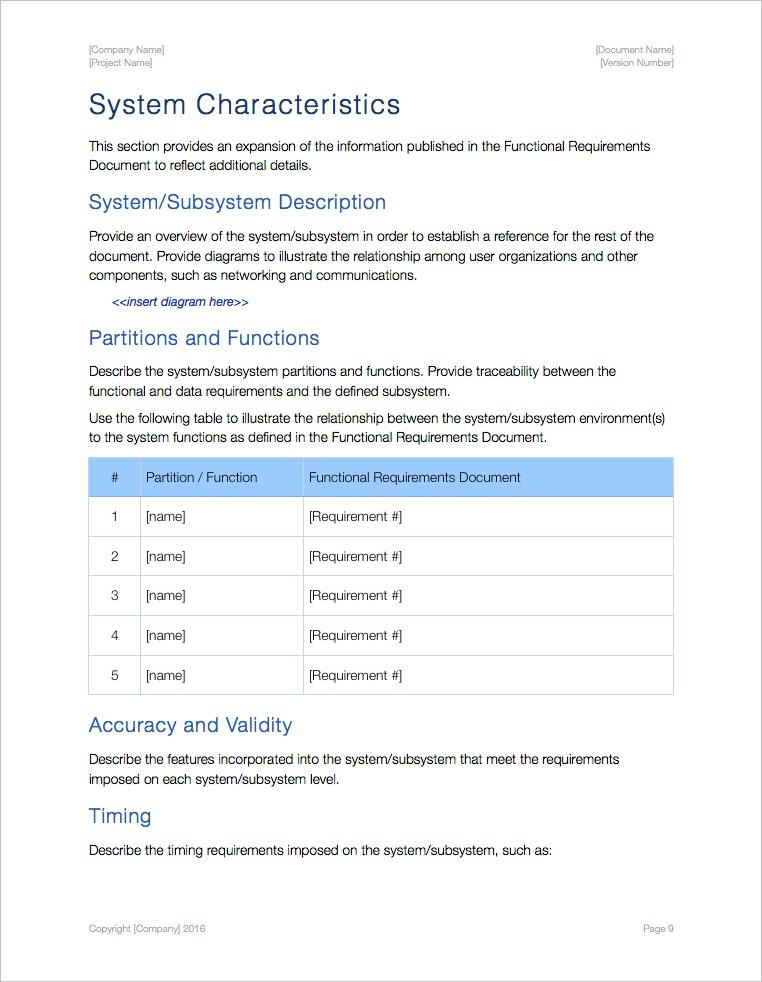 System-Subsystem-Specifications-Template-Apple-iWork-Pages-Characteristics