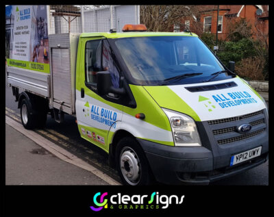 All Build Developments - Dorset - Transit Tipper - Side Panels - Graphics
