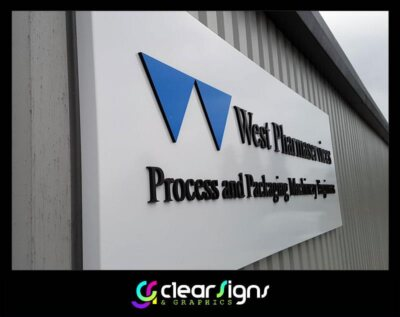 Aluminium Sign Tray - Flat Cut Flush Fitted 10mm thick logo