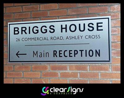 Brushed Silver Dibond Sign Panel