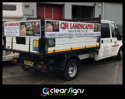 CJH Landscaping Tipper Graphics