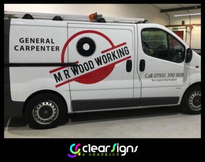 Carpenter Van Graphics, Vehicle Graphics, Mr Wood Working