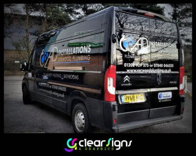 Citroen Relay - Plumber - Heating - Vehicle Graphics - Verwood - Dorset