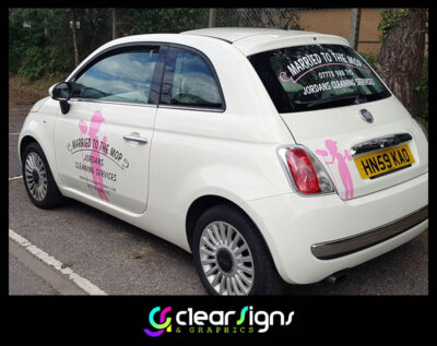 Cleaners Vehicle Graphics - Car - Fiat 500