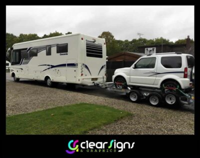 Concorde Motorhome with Mini Me on the back!