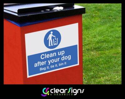 Dog Waste Bin Sticker (1)