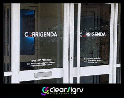 Entrance Door Graphics - intercom out of hours etc (1)