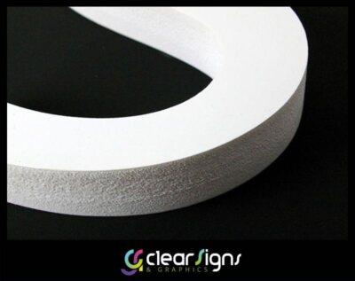 FLat Cut 10mm thick Foamex Letters