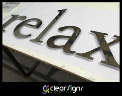 FLat Cut Polished Stainless Steel Letters