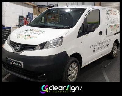 Florist Vehicle Graphics - Sign Writting - Dorset
