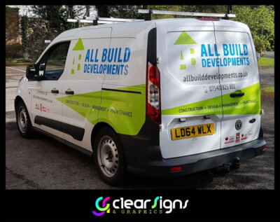 Ford Connect, Builders, Developers, Van Vehicle Graphics, Sign Written Writing
