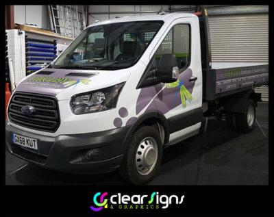 Ford Transit Tipper - Landscape Garden - Vehicle Graphics