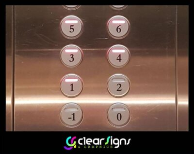 Lift Control Panel, Number Graphics (1)