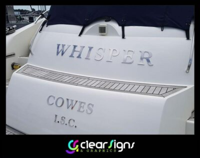Polished Stainless Steel Boat Lettering - Havant - Hampshire (1) (1)