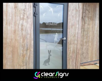 SPA Womens Changing Rooms, Window Graphic, Window Manifestation (1)