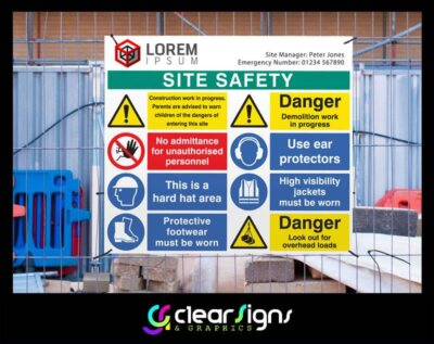Site Safety Sign Heras Fencing (1)
