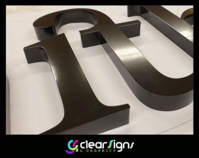 Premium Finished Built Up - Satin black lettering - Sign