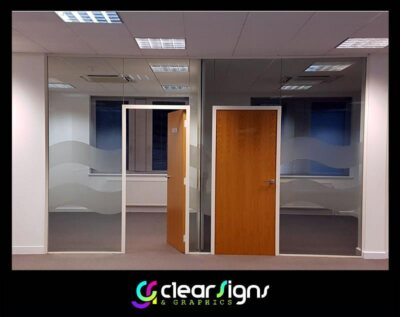 decorative frosted glass