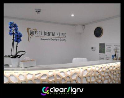 dorset dental reception area