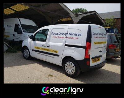 dorset drainage services van