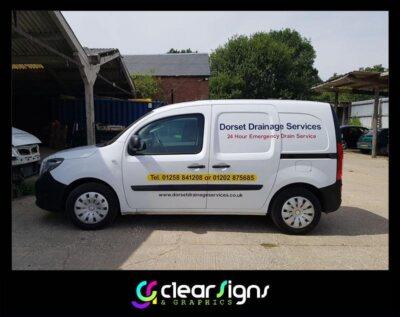 dorset drainage services van side