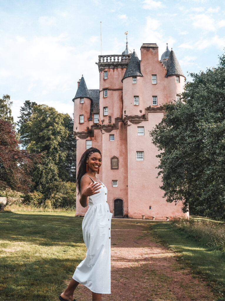 Inviting you to visit the pink castle in Scotland