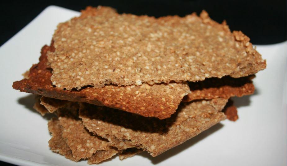 crakers de trigo sarraceno y sésamo