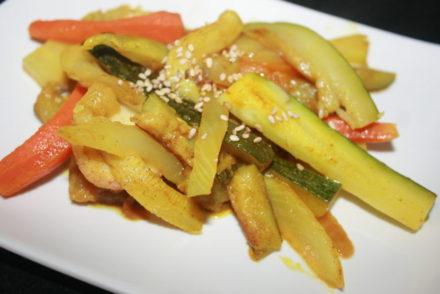 verduras con aceite de coco