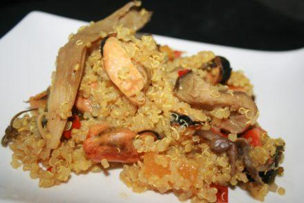 quinoa con mejillones