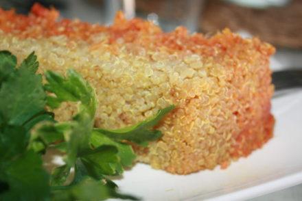 Pastel de quinoa
