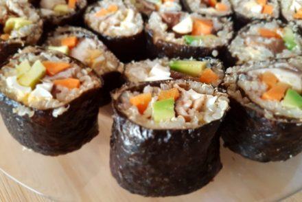 Sushi con quinoa para tus recetas terapéuticas