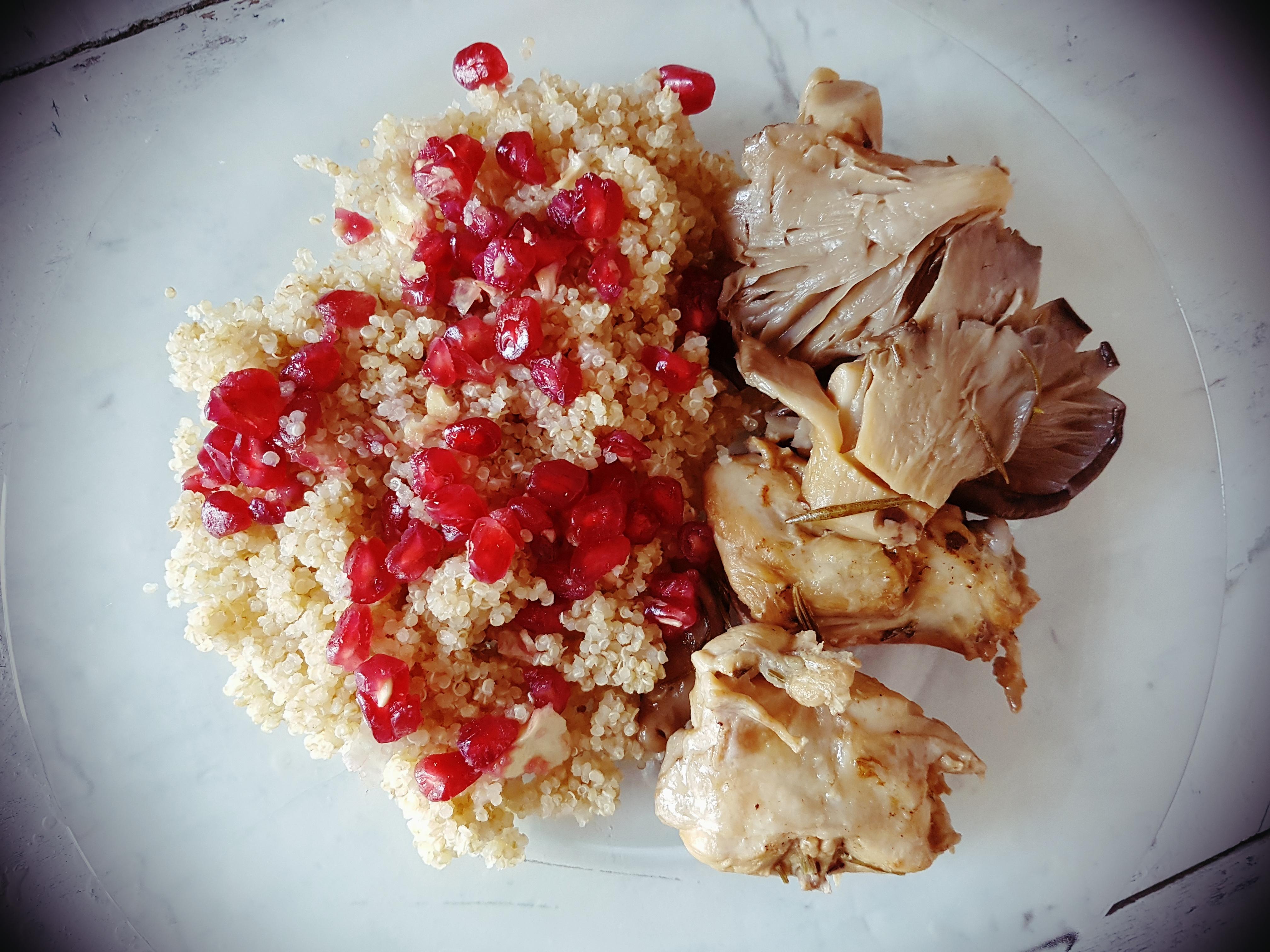 conejo con quinoa