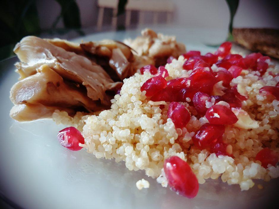 Pollo, setas y quinoa para tus recetas terapéuticas