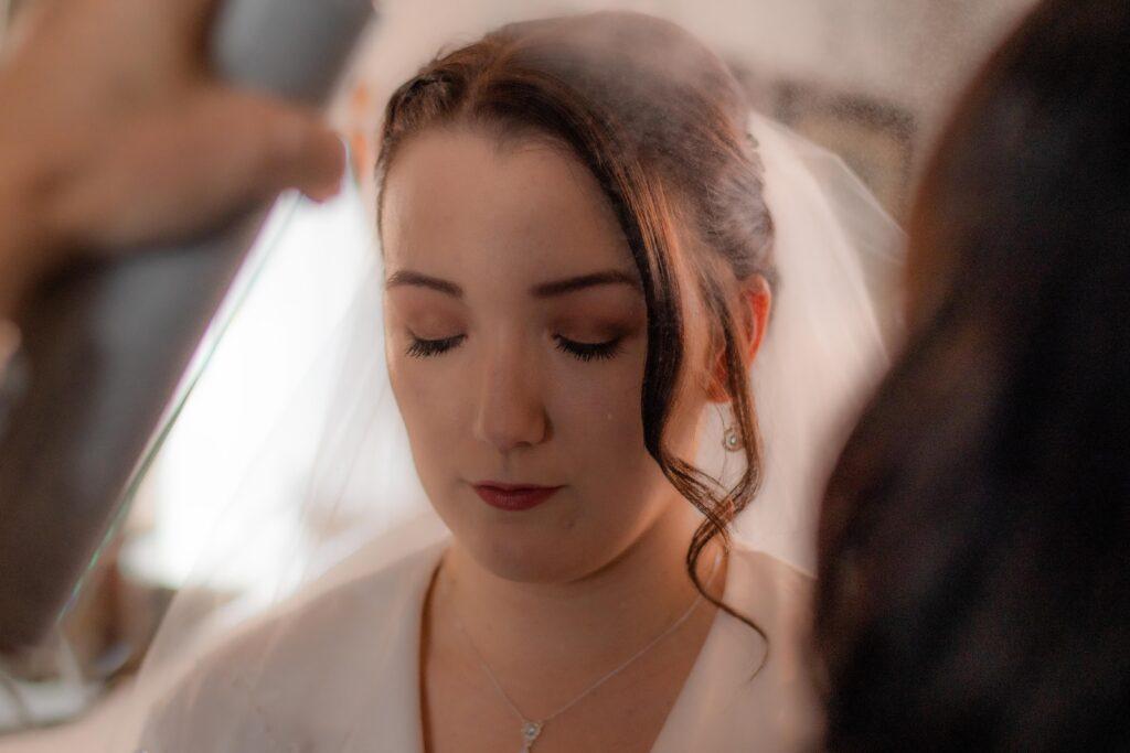 Bride misting