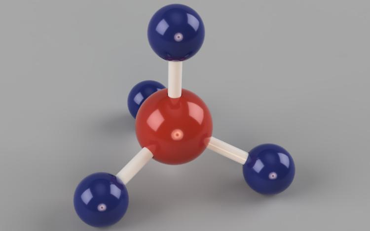 Science   Methane molecular compound
