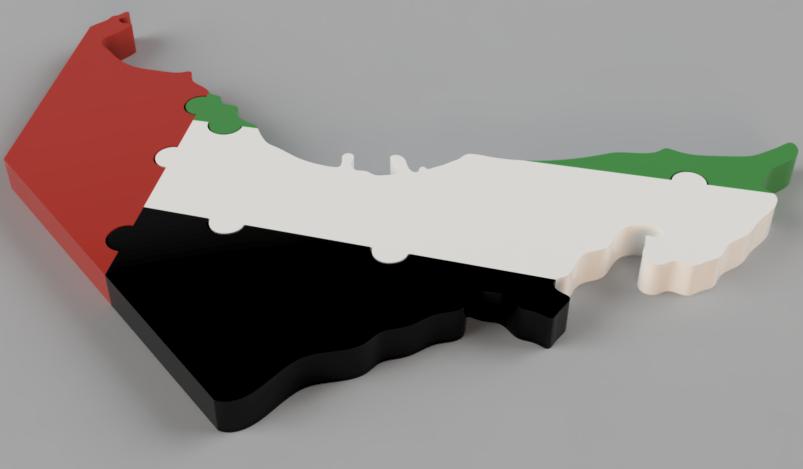 لغز خريطة الإمارات العربية المتحدة | جغرافية