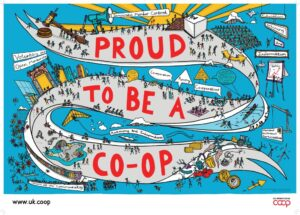 'Proud to be a co-op' poster
