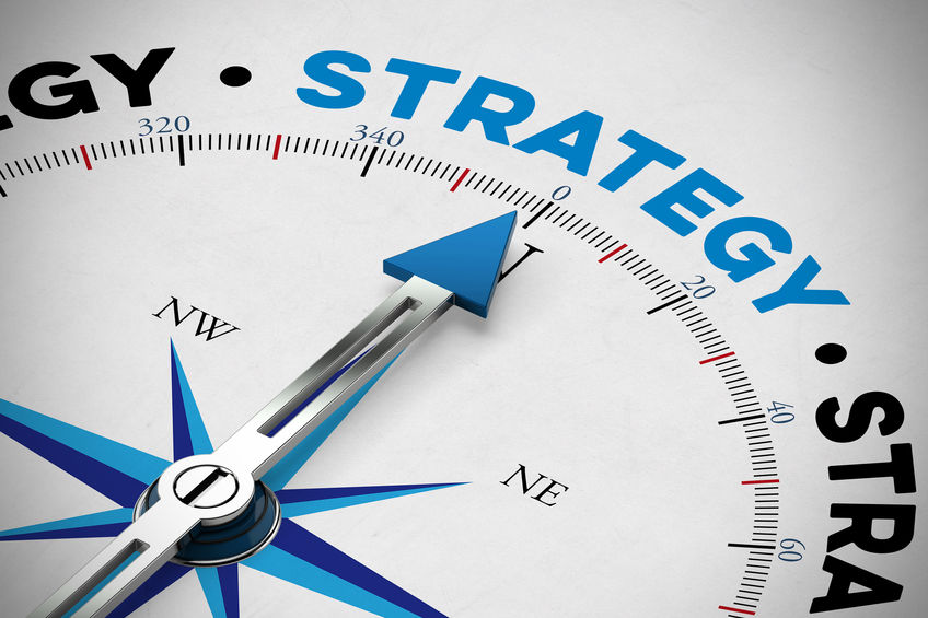 Orientation for business strategy as concept on a compass (3D Rendering)