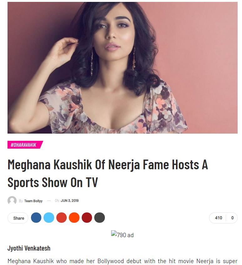 meghana-kaushik-of-neerja-fame-hosts-a-sports-show-on-tv