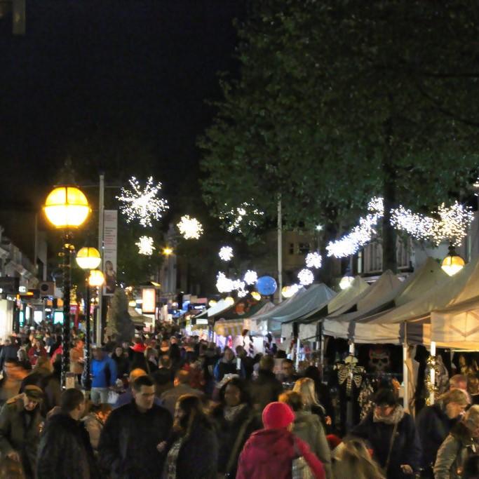 Christmas lights footfall