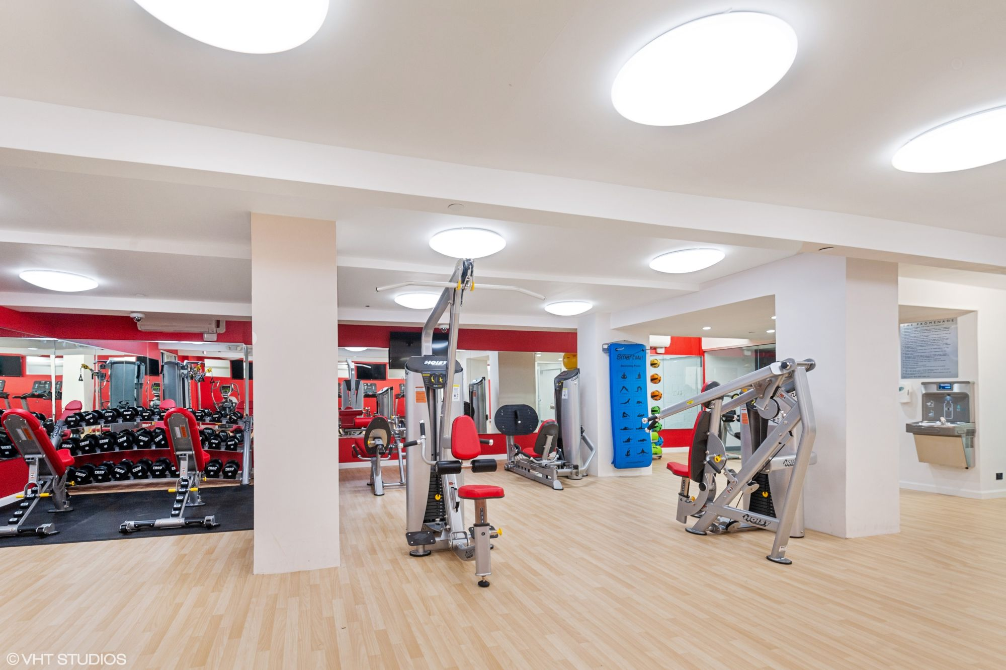 The fitness center at The Promenade, 150 West 225th Street, is newly renovated and has state-of-the-art strength machines & top-of-the-line free weights.